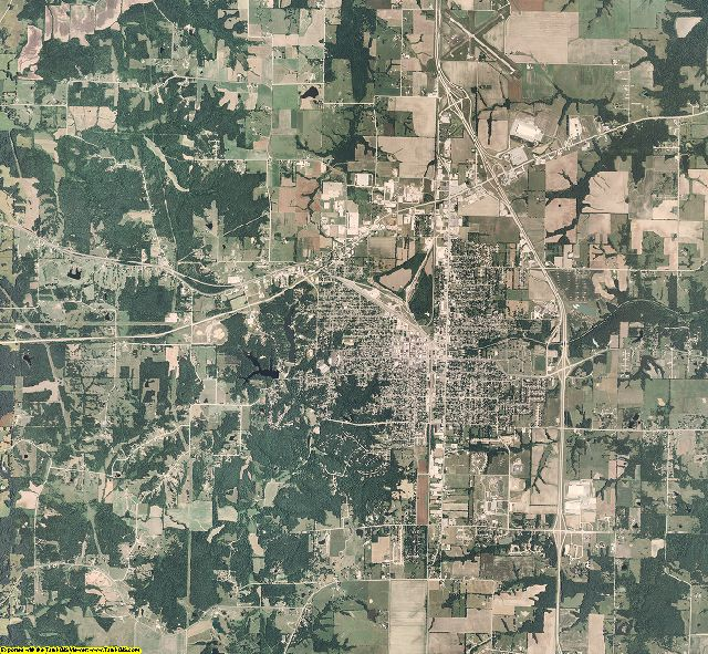 Randolph County, Missouri aerial photography
