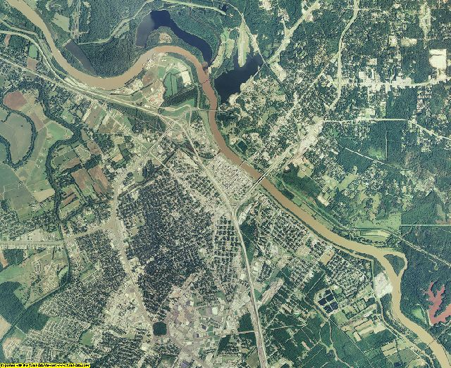 Rapides County, Louisiana aerial photography