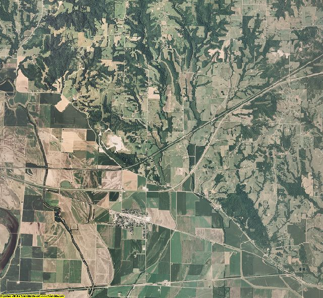 Ray County, Missouri aerial photography