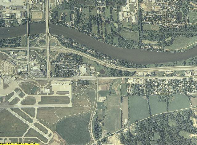 Rock Island County, Illinois aerial photography
