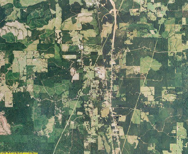 Sabine County, Louisiana aerial photography
