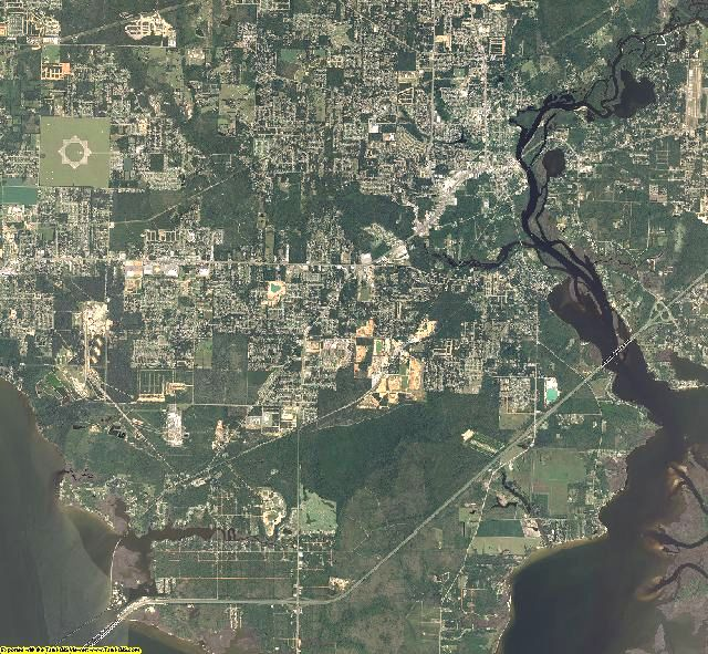 Santa Rosa County, Florida aerial photography