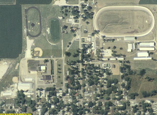 Schuyler County, IL aerial photography detail