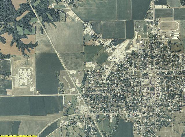 Schuyler County, Illinois aerial photography