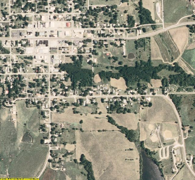 Schuyler County, MO aerial photography detail