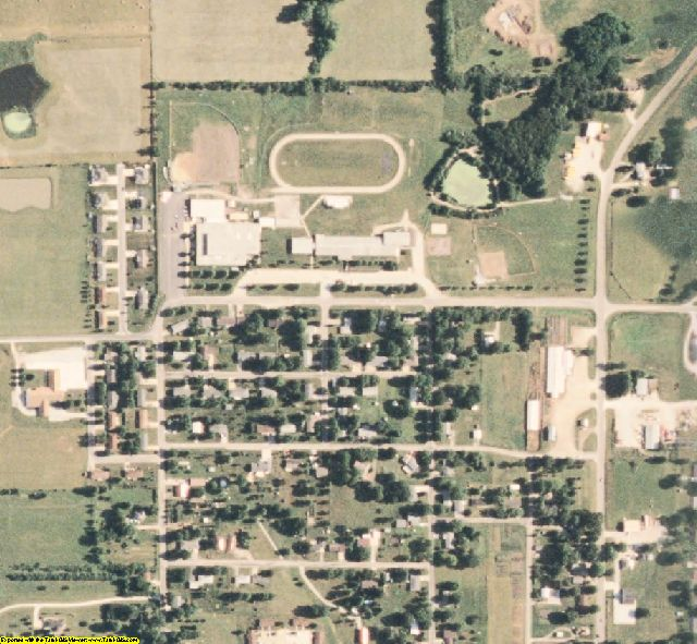 Scotland County, MO aerial photography detail