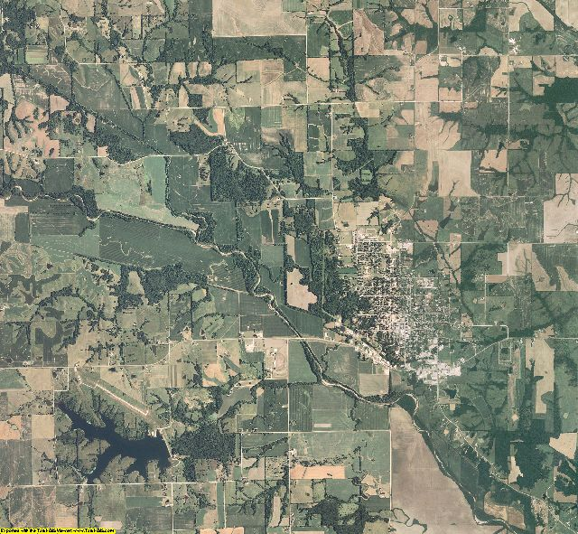 Scotland County, Missouri aerial photography