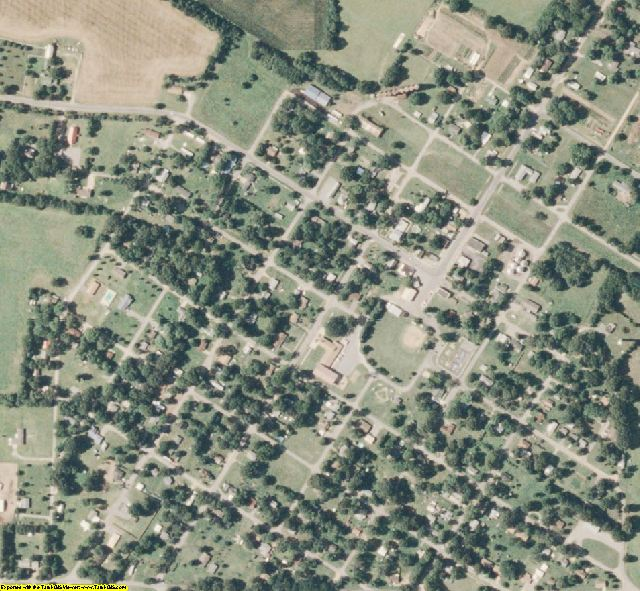 Scott County, MO aerial photography detail
