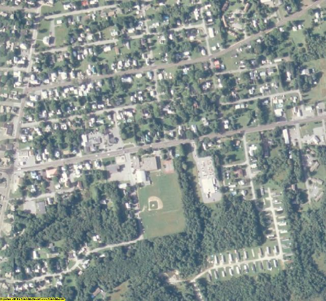 Somerset County, ME aerial photography detail