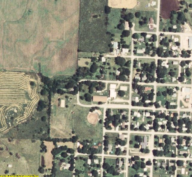 St. Clair County, MO aerial photography detail