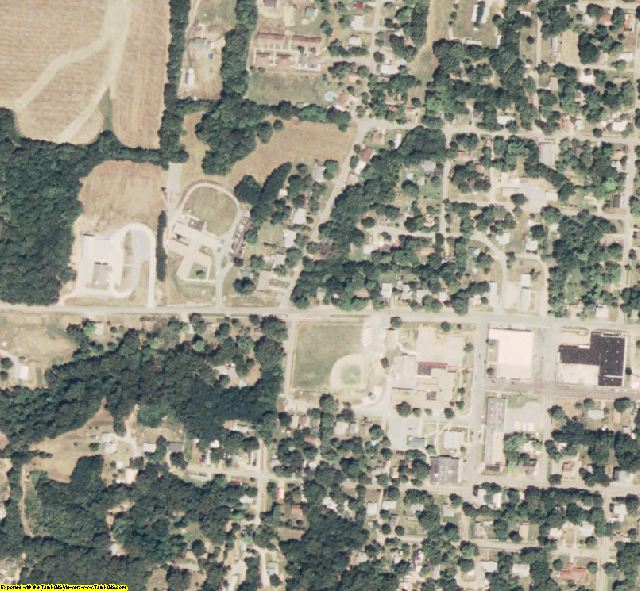 Stoddard County, MO aerial photography detail
