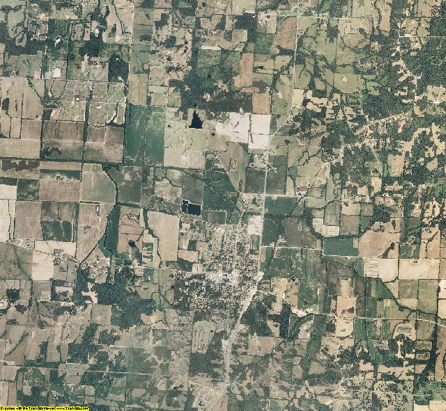 Stoddard County, Missouri aerial photography