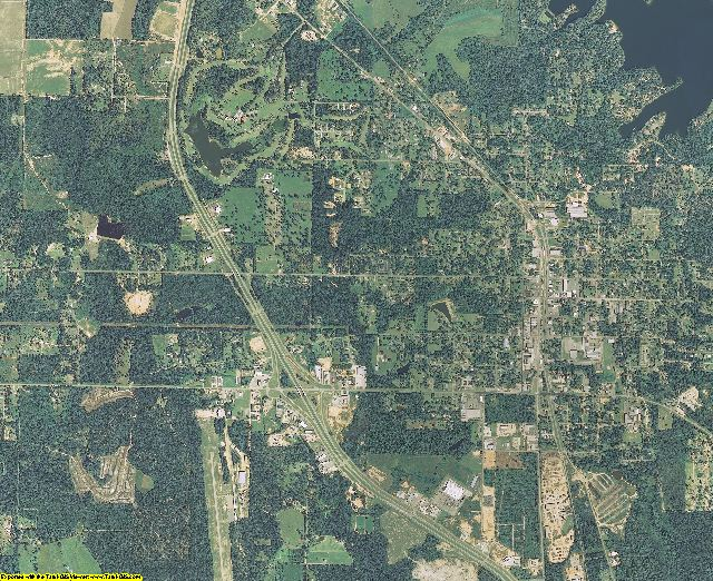 Stone County, Mississippi aerial photography