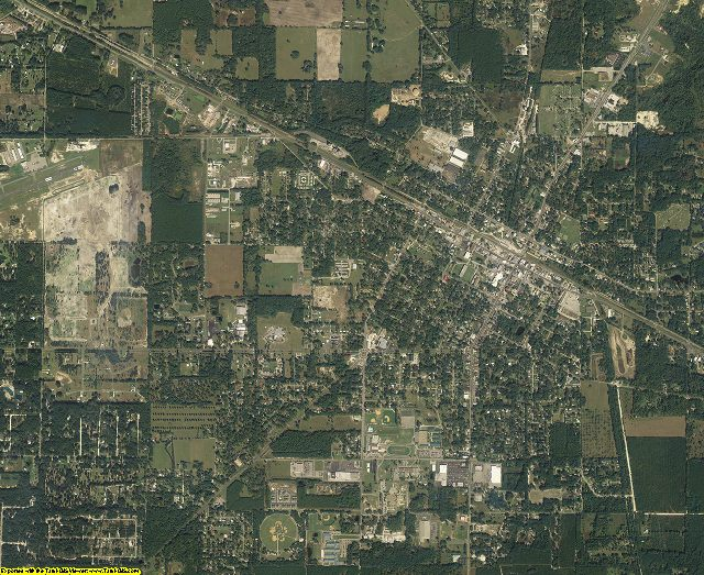 Suwannee County, Florida aerial photography