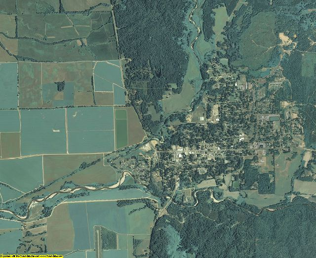 Tallahatchie County, Mississippi aerial photography