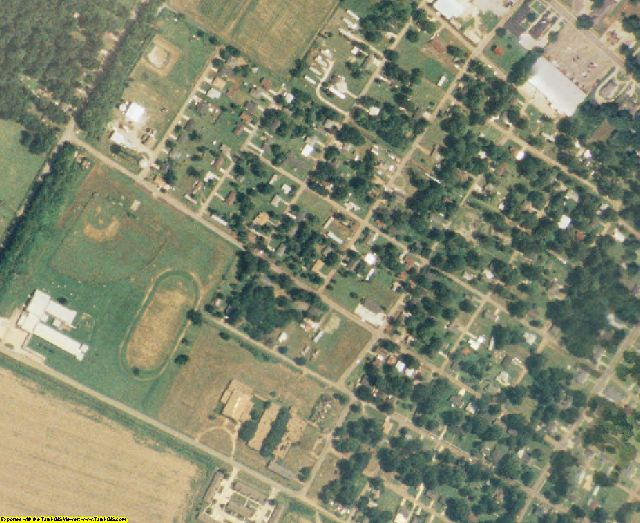 Tensas County, LA aerial photography detail