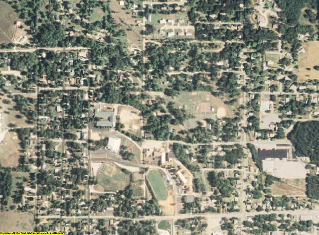 Texas County, MO aerial photography detail