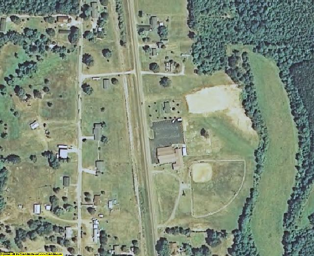 Tippah County, MS aerial photography detail