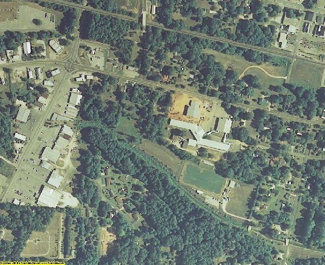 Tishomingo County, MS aerial photography detail