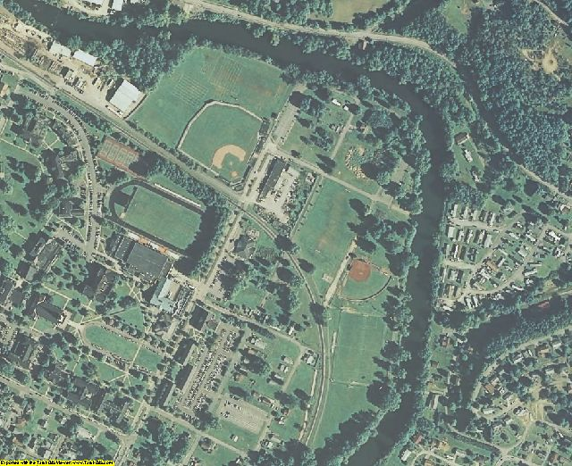 Upshur County, WV aerial photography detail