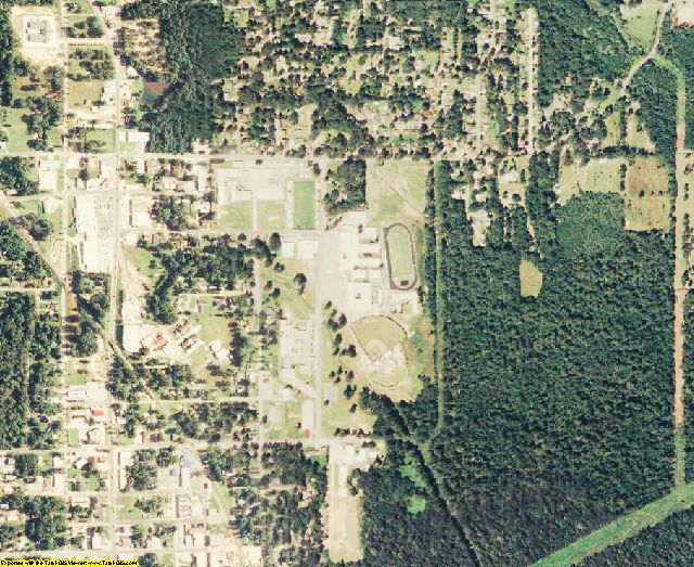 Vernon County, LA aerial photography detail