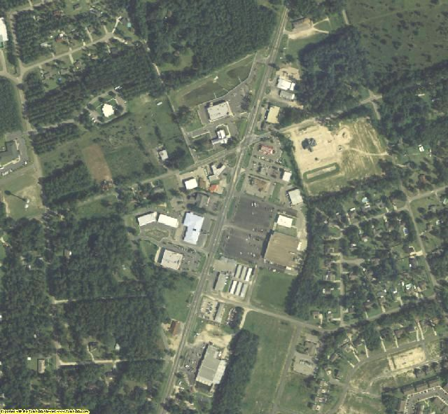 Wakulla County, FL aerial photography detail