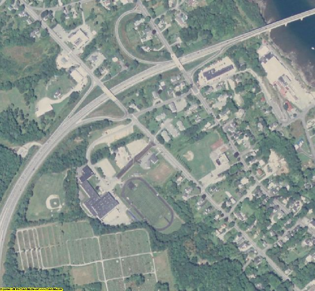 Waldo County, ME aerial photography detail