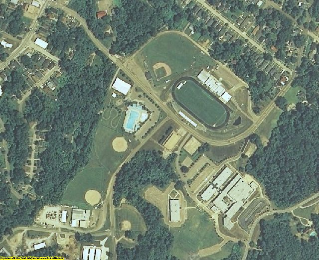 Warren County, MS aerial photography detail