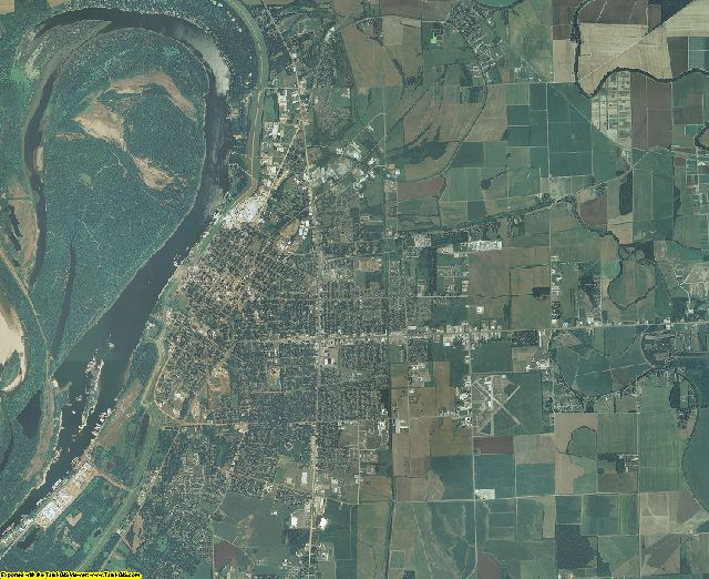 Washington County, Mississippi aerial photography