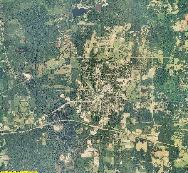 Webster County, Louisiana aerial photography