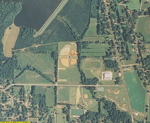 Webster County, MS aerial photography detail