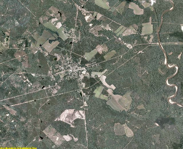 Wheeler County, Georgia aerial photography