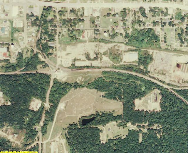 Winn County, LA aerial photography detail