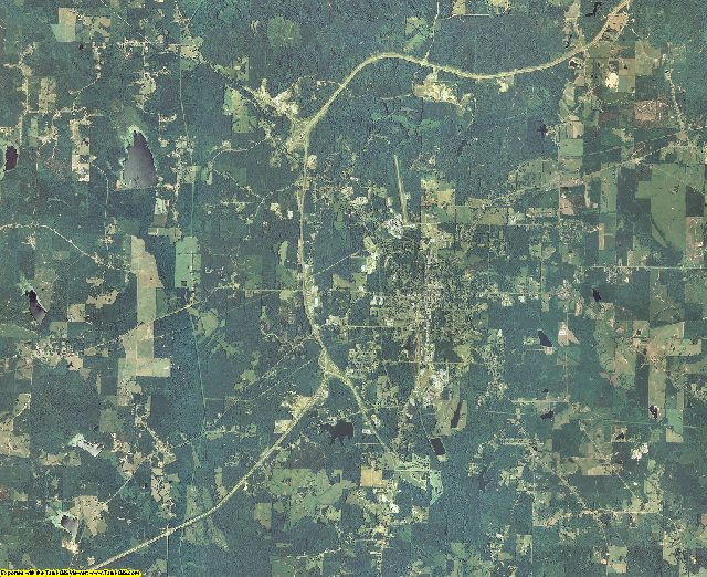 Winston County, Mississippi aerial photography