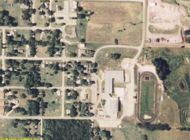 Worth County, MO aerial photography detail