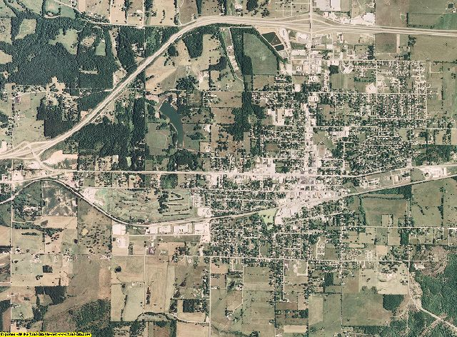Wright County, Missouri aerial photography