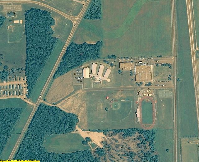 Yazoo County, MS aerial photography detail