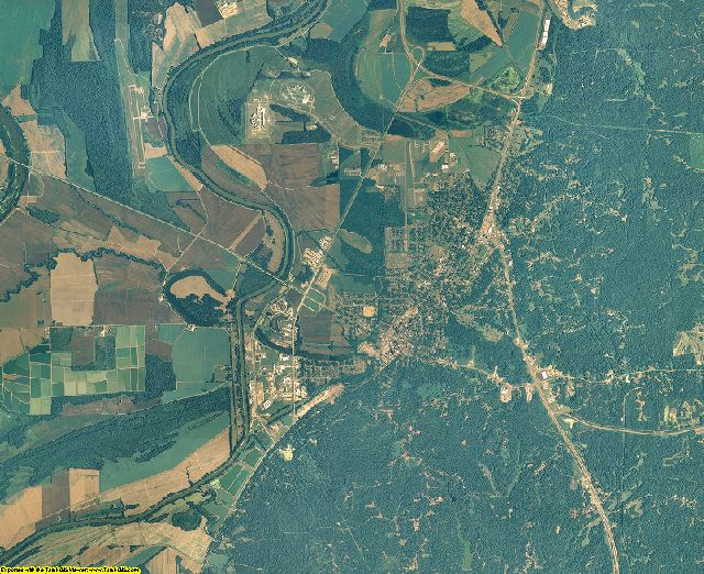 Yazoo County, Mississippi aerial photography