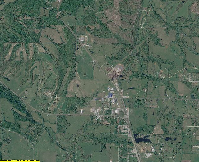 Adair County, Oklahoma aerial photography