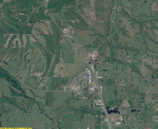 Adair County, Oklahoma aerial photography