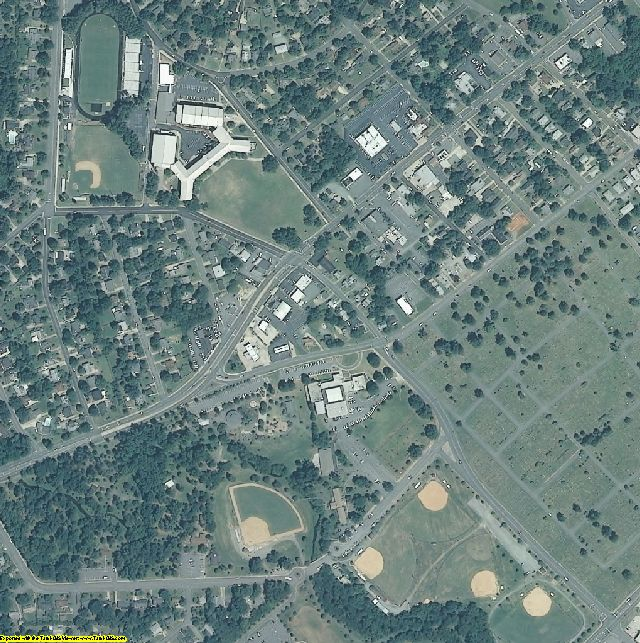 Alamance County, NC aerial photography detail