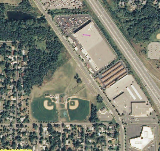 Anoka County, MN aerial photography detail