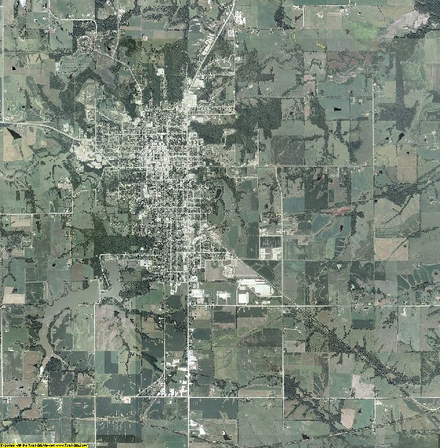 Appanoose County, Iowa aerial photography