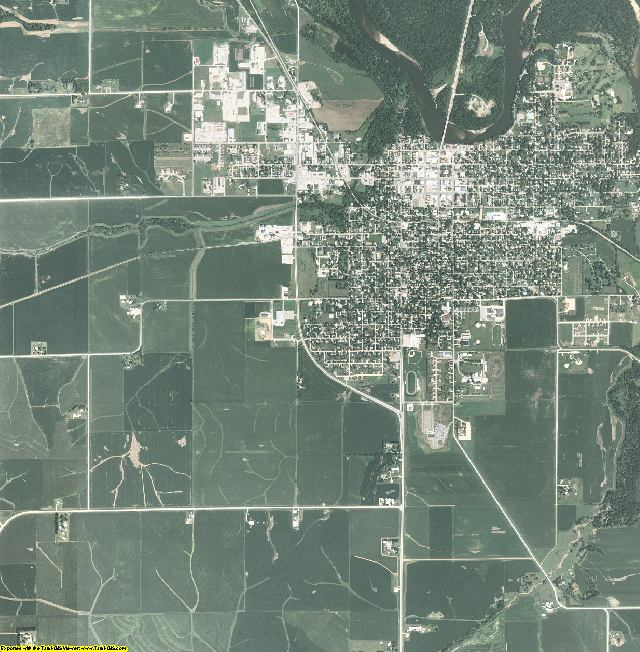 Benton County, Iowa aerial photography