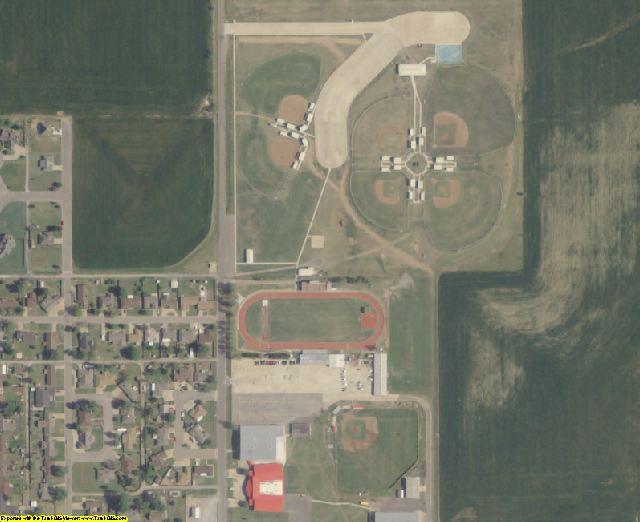 Blaine County, OK aerial photography detail