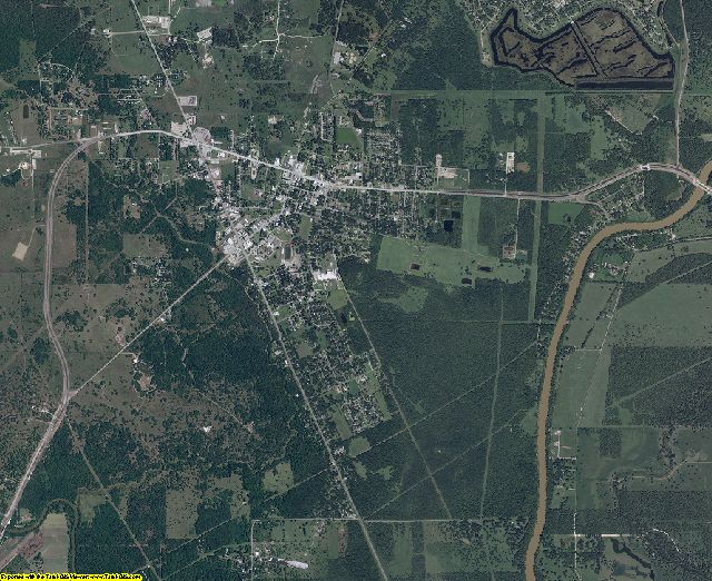 Brazoria County, Texas aerial photography