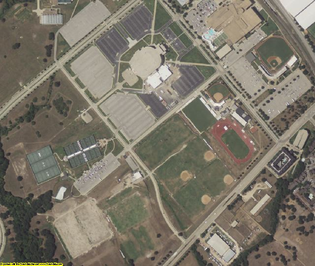 Brazos County, TX aerial photography detail