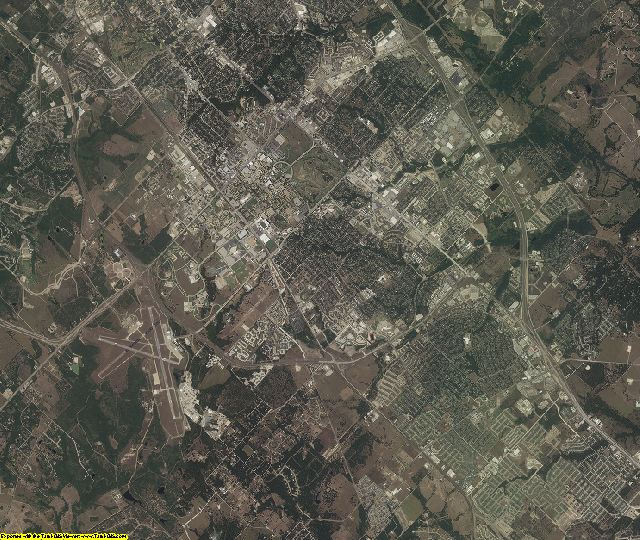 Brazos County, Texas aerial photography