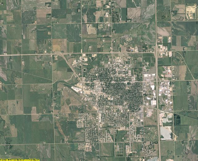Brookings County, South Dakota aerial photography