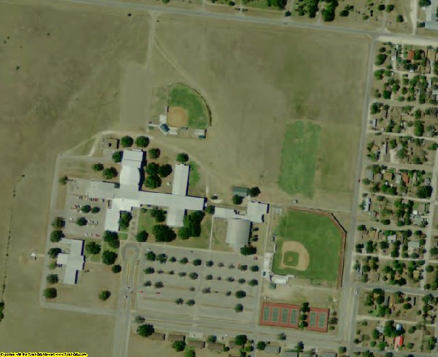 Brooks County, TX aerial photography detail